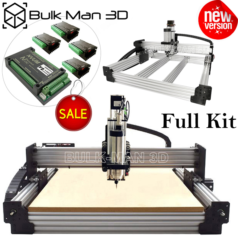 WorkBee CNC Machine Full Kit with Tingle Tension System DIY CNC Engraving Complete Kit NVUM Mach3 CNC Milling Cutter